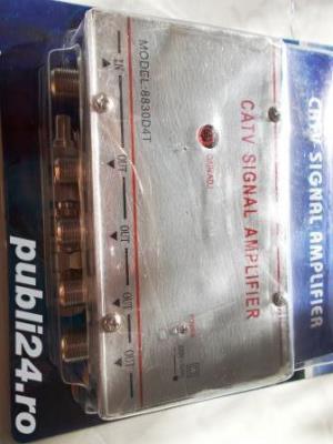 amplificator de semnal tv cu 4 iesiri,nou,intipla,rambursposta,pretfix - imagine 2