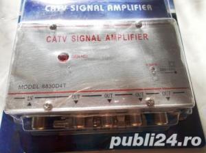 amplificator de semnal tv cu 4 iesiri,nou,intipla,rambursposta,pretfix - imagine 3