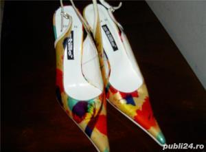 pantofi dama de lac colorati 39 - imagine 1