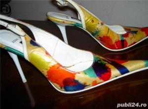 pantofi dama de lac colorati 39 - imagine 2