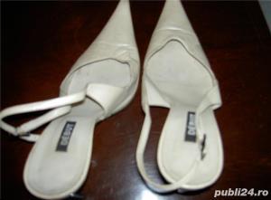 pantofi dama bej de piele 38 - imagine 4