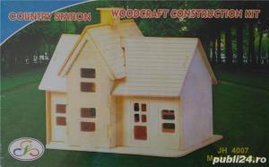 Puzzle 3D Casa din placaj de lemn disponibile 2 modele - imagine 1