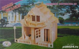 Puzzle 3D Casa din placaj de lemn disponibile 2 modele - imagine 2