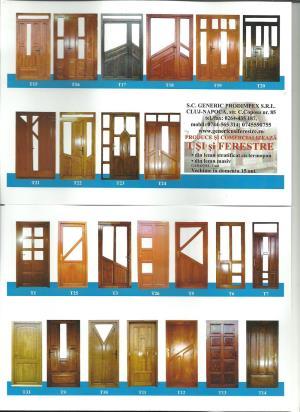 Usi de interior si exterior din lemn - imagine 3