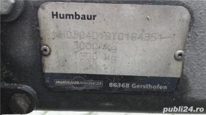 Vand platforma Humbaur 3000kg sarcina utila 2350kg recent adusa Germania si inmatriculata - imagine 6