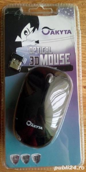 Mouse Wireless Akyta 3D Optical  - imagine 1