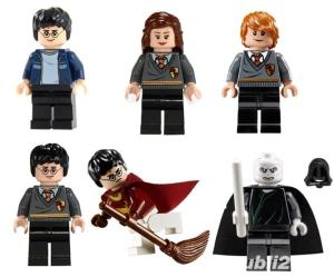 Set 6 Minifigurine tip Lego Harry Potter, Hermione, Ron, Lord Voldemort - imagine 2