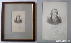 Tablou - Louis-Marie Prudhomme (1752 - 1830), gravura cu autograf - pt colectionari - imagine 1