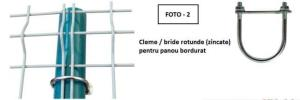 Sistem complet de cleme-suruburi pentru prindere gard din panou bordurat - imagine 2