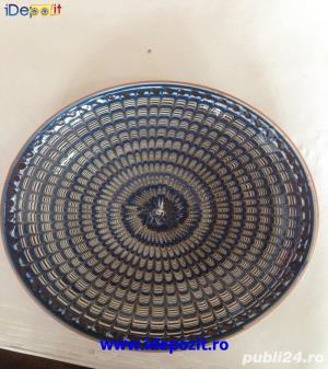Farfurii coada de paun tradtitionale lucrate manual in Horezu - imagine 2