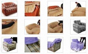 Husa pentru canapea de 2 locuri - Caramiziu - imagine 4