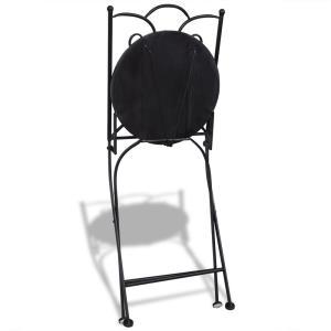 Set de 2 scaune din mozaic, culoare teracota si alb vidaXL (41535) - imagine 3
