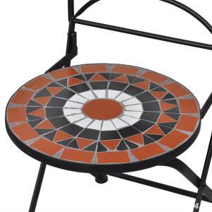 Set de 2 scaune din mozaic, culoare teracota si alb vidaXL (41535) - imagine 6