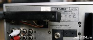 Fisher RS-225 Stereo Receiver Amplificator statie Amplituner 2x45W 4 iesiri , 4 intrari , radio digi - imagine 5