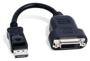 Adaptor DisplayPort DP la DVI CABLU 20 CM - imagine 2