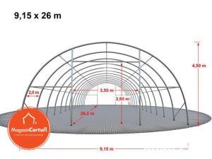 Cort Depozitare/Hala, Tunel Semirotind, 9,15m x 26m x h 4,5m - imagine 15