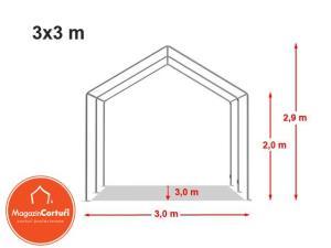 Cort Evenimente 3x3 m Eco - imagine 2