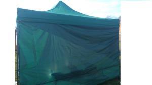 cort verde / albastru pavilion inchis 3x3m nou  - imagine 2
