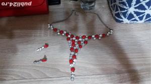 set colier+cercei pietre  - imagine 2