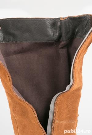 Cizme inalte genunchi piele naturala [absolut noi] - talpa 24.5 cm - imagine 8