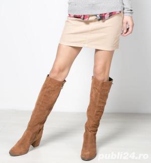 Cizme inalte genunchi piele naturala [absolut noi] - talpa 24.5 cm - imagine 1