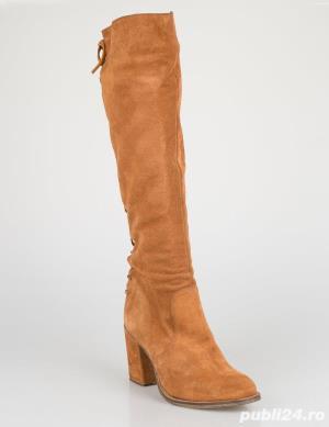 Cizme inalte genunchi piele naturala [absolut noi] - talpa 24.5 cm - imagine 4
