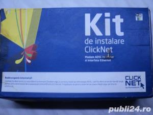 Kit ClickNet Modem ADSL Thomson SpeedTouch ST516 V6 NOU - imagine 1