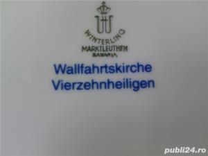 Vand farfurie decorativa portelan Bavaria, cobalt - imagine 2
