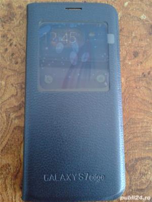 husa Samsung Galaxy S7 EDGE, flip case ,noua - imagine 3