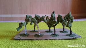 macheta copaci pomi arbori arbusti ptr. diorama trenulet, modelism, proiect cartier arhitectura - imagine 1