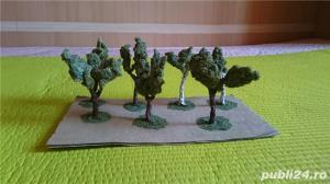 macheta copaci pomi arbori arbusti ptr. diorama trenulet, modelism, proiect cartier arhitectura - imagine 2