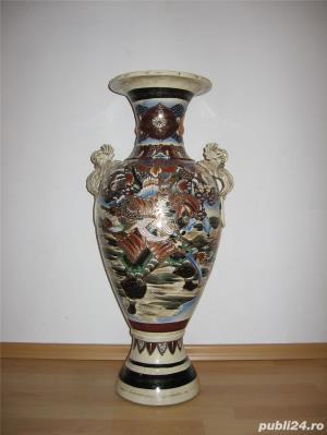 Vand vaza decorativa coreeana din ceramica tip amfora - imagine 1