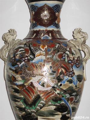 Vand vaza decorativa coreeana din ceramica tip amfora - imagine 2
