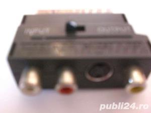 Adaptor scart-3 x rca cu optiune IN-OUT - imagine 3