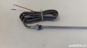 Sonda temperatura cilindrica PT100 tija 4x240mm - imagine 1