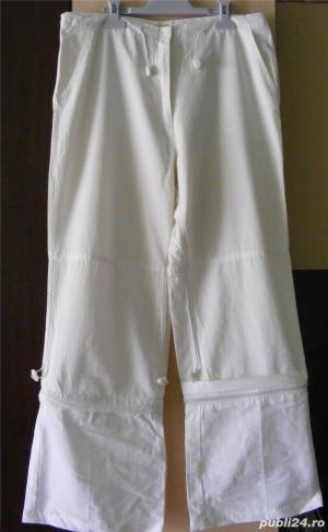 Pantaloni dama albi  - imagine 3