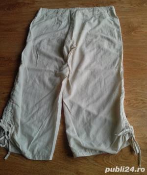 Pantaloni dama 3/4 crem  - imagine 1