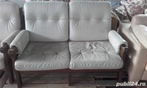 Canapea piele naturala - imagine 3