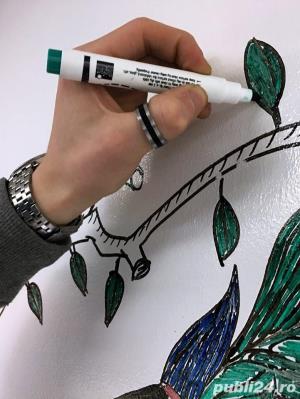 Vopsea whiteboard Sketchpaint  pentru scris cu marker de whiteboard 1L - imagine 4