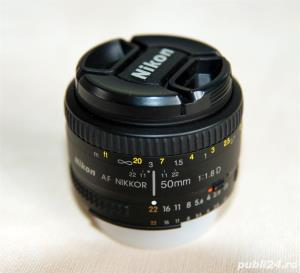 Nikon AF Nikkor 50mm f/1.8D, filtru UV, filtru polarizare  - imagine 1