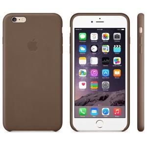 Husa Apple iPhone 6 Plus (MGQR2ZM/A) Olive Brown- piele naturala maro  - imagine 3