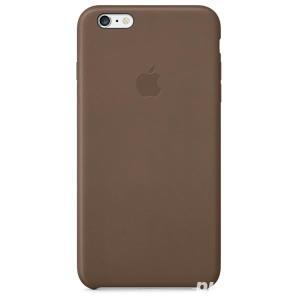 Husa Apple iPhone 6 Plus (MGQR2ZM/A) Olive Brown- piele naturala maro  - imagine 4