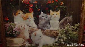 Tablou vechi Poster - Peisaj cu Pisici 1974 - imagine 2