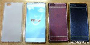 Husa Huawei P8 Lite carte p8 lite silicon p8 lite folie sticla  - imagine 2