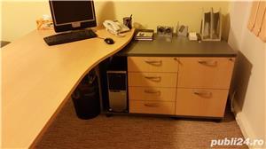 Set complet de mobila de birou (Birou reglabil, dulapuri, casetiera) - imagine 2