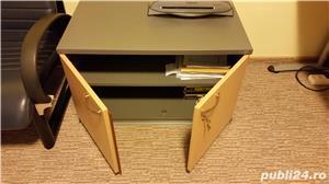 Set complet de mobila de birou (Birou reglabil, dulapuri, casetiera) - imagine 4