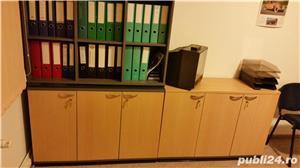 Set complet de mobila de birou (Birou reglabil, dulapuri, casetiera) - imagine 6