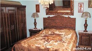 Dormitor lemn masiv ,sculptat manual in stil Florentin - imagine 3
