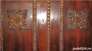 Dormitor lemn masiv ,sculptat manual in stil Florentin - imagine 7