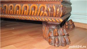 Dormitor lemn masiv ,sculptat manual in stil Florentin - imagine 5